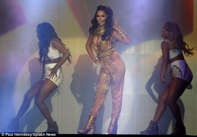 She's the girl: Cheryl managed to pull off an amazing show without her band mates
