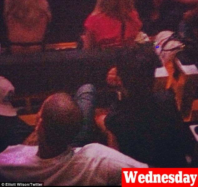 Back on then? Rihanna and Chris Brown spent their third consecutive night together as they attended the Jay-Z concert in New York