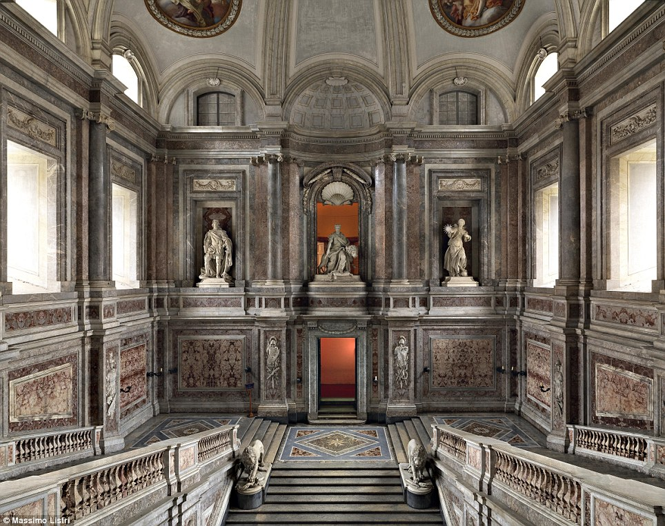 Wide halls: The Palace of Caserta, located in southern Italy, was built for the kings of Naples, and has the honour of being one of the largest built in Europe during the 18th century