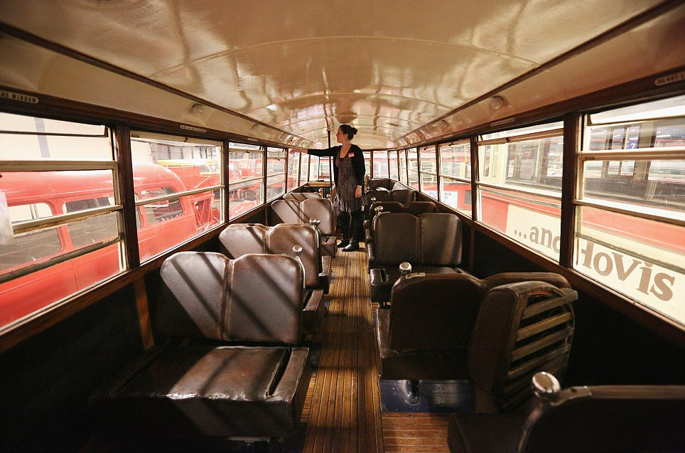 Another era: Pictured is the upper deck of a conserved tram