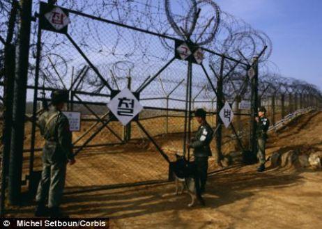 Image result for north korea border crossing