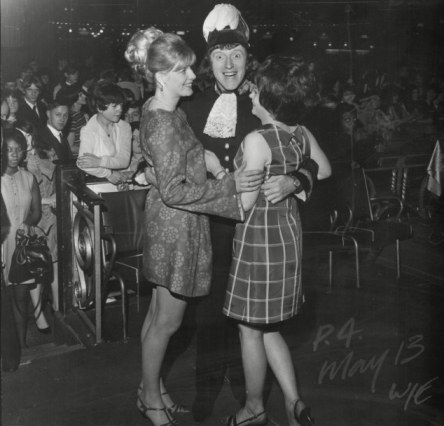 Jimmy Savile, above with two girls in 1967, boasted to biographer Dan Davies about how many girls would be available to him on a typical night in one of his dancehalls