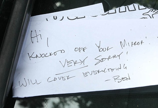 Ben Affleck Leaves Driver Considerate Note After Careening