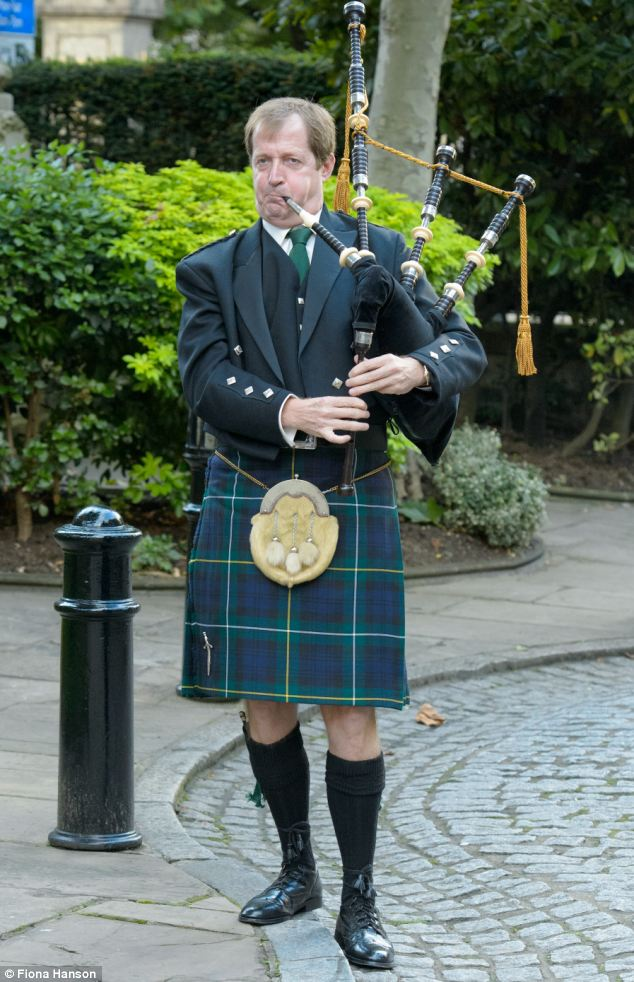 Blair's former spin doctor Alastair Campbell wore a kilt and played the bagpipes