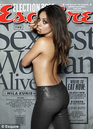 Sexiest woman: Kunis appears on the cover of Esquire magazine