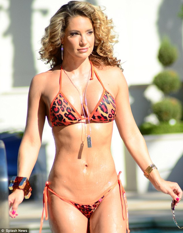Fruit of her labours: The mother-of-two has worked tirelessly in the gym to achieve her bikini body