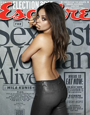 Cover girl: Mila features in Esquire
