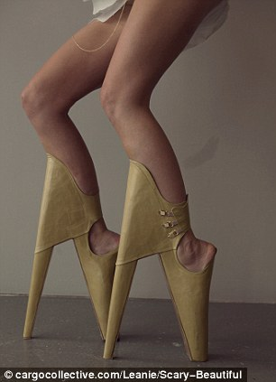The gravity defying heels did not go unnoticed and were nominated for a prize at Leanie's university