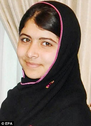Attacked: Malala Yousafzai was shot on her way home from school