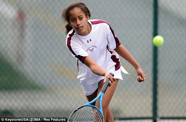 Court on camera: The 14-year-old plays for the Sidwell Friends varsity tennis team in Washington D.C.