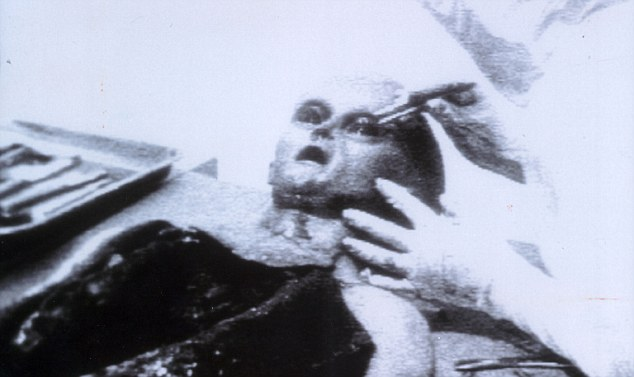 Infamous: Iconic image of the alien autopsy footage said to have been carried out after a UFO crash in 1947