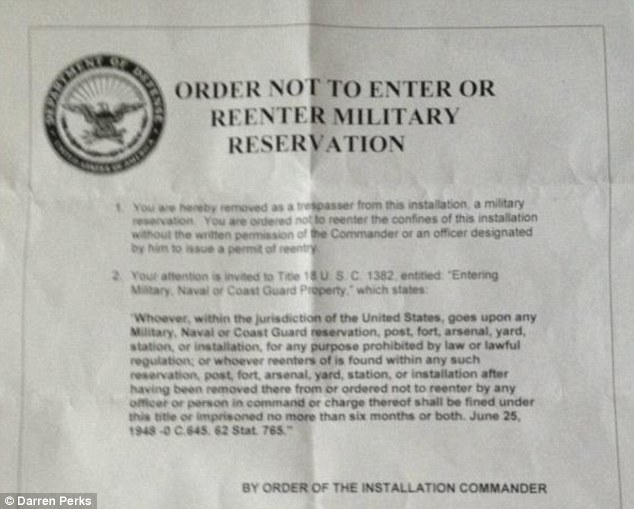 Written order: This warning was given to the team as they left