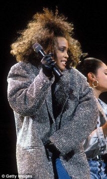 Spitting image: Jennifer Hudson chose to honour Whitney Houston at the We Will Always Love You: A GRAMMY Salute to Whitney Houston event on Thursday night, by channelling one of Houston's looks in the Eighties
