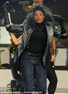 Giving it her all: Jennifer showed off array of moves as she took to the stage