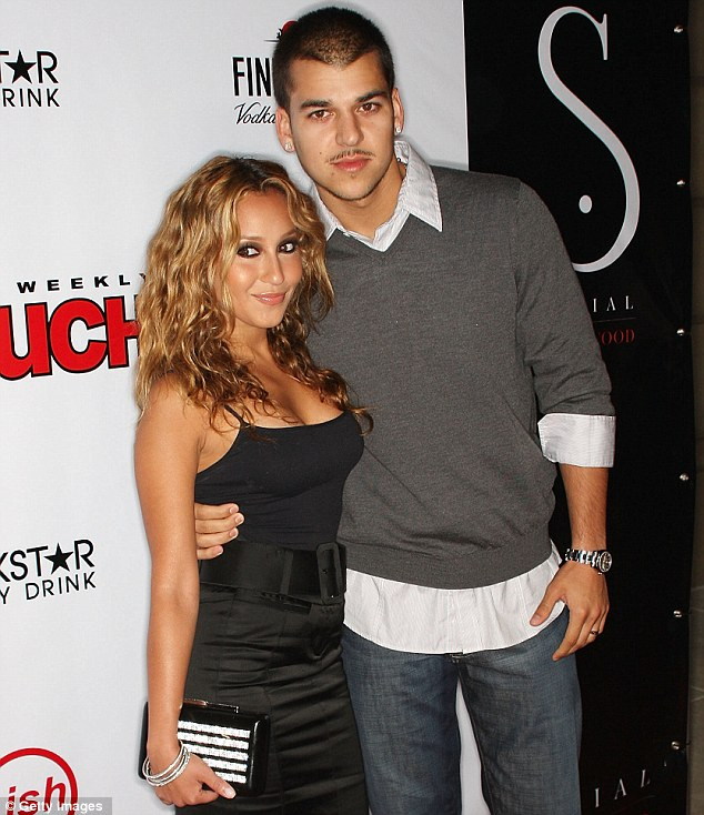Passport to the D list: The singer first came to prominence after she started dating reality personality Rob Kardashian