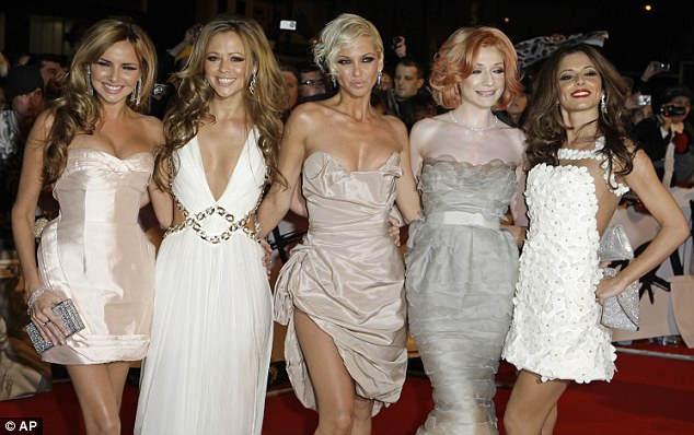 Back together: Nadine has worked out her problems with the other Girls Aloud members, seen here together in 2009