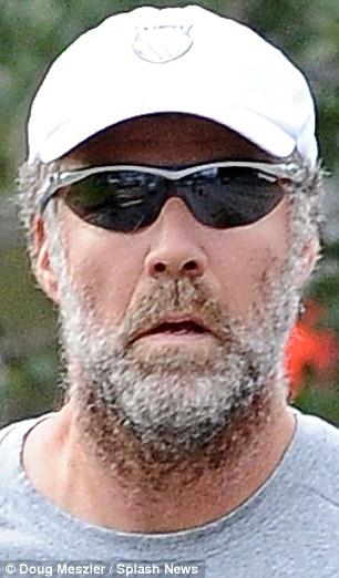Will Ferrell Hides Behind A Fuzzy Beard As He Jogs Round