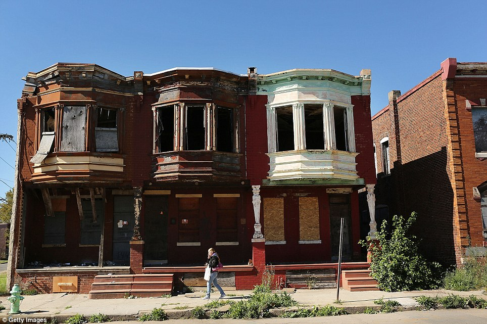 Empty and decrepit homes line Camden's streets