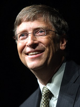 Bill Gates: Currently the second richest person alive with a net worth of $62.5billion today, at his peek in 1999, Mr Gates' Microsoft stock soared, giving him a net worth equal to $136billion in today's dollars