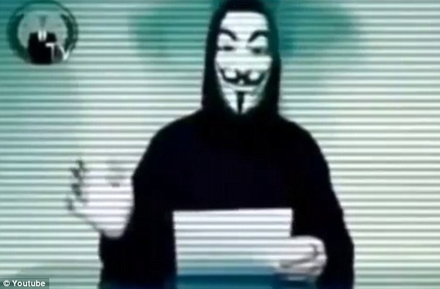 Revealed: In a YouTube video, Anonymous claimed that the man behind the bullying was a 32-year-old from British Columbia