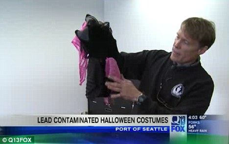 Drastic: All 1,371 tainted pirate costumes from China will be destroyed to prevent kids' exposure to lead