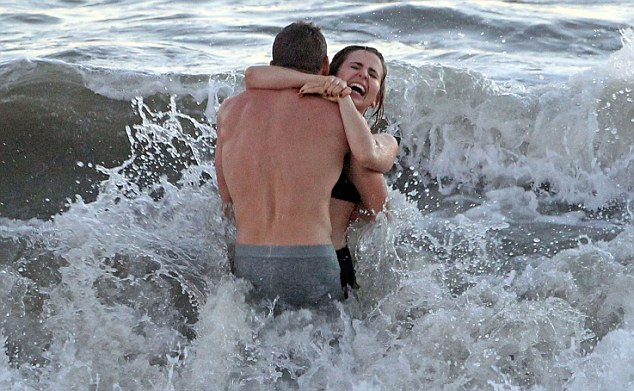 Its cold: The actors shine despite the chilly water