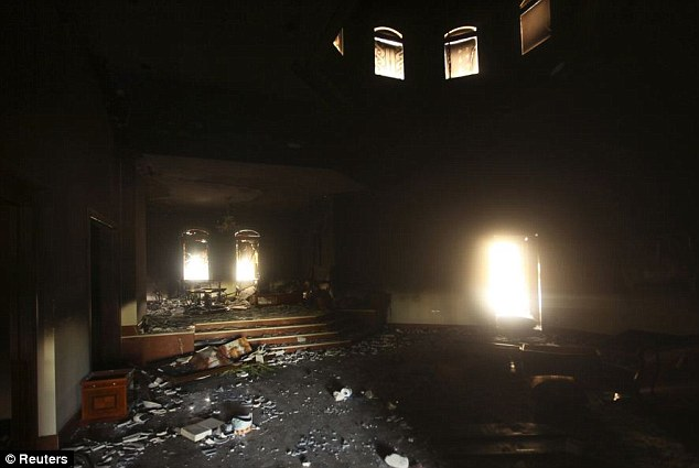 Siege: The compound came under heavy mortar and gunfire during the attack, which lasted several hours
