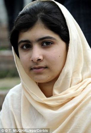 Recovery: Surgeons said Malala, pictured, is showing signs of recovery but is 'not out of the woods yet'