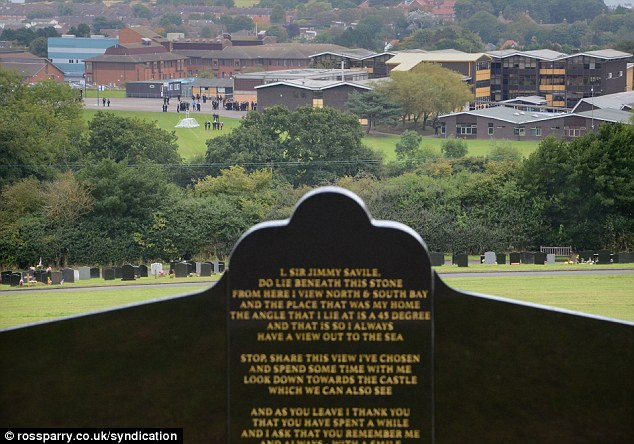Sir Jimmy Savile's grave overlooks the Graham School, which teaches both sexes between the ages of 11 and 16