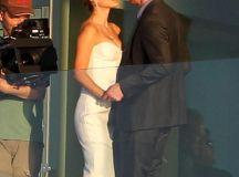 Natalie Portman shares a kiss with Michael Fassbender for the Untitled Terence Malick Project ...
