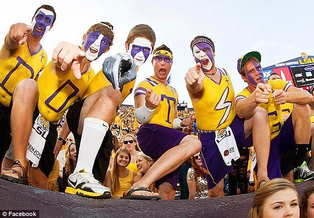 Eye-catching: The painted fans have featured on national sports broadcasts including ESPN
