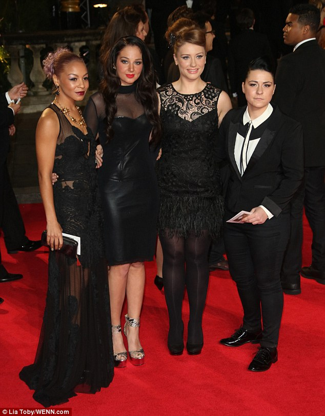 Their first premiere: Tulisa Contostavlos gave her girls their first taste of the true spotlight by taking them along to the premiere