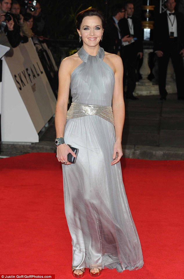 A night off from dancing: Olympian Victoria Pendleton wore silver to the premiere as she gave herself a rest form the dance studio
