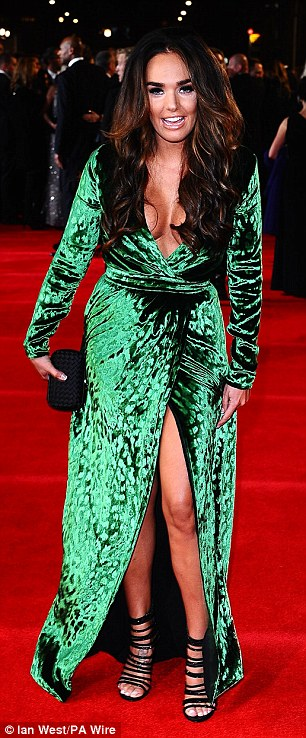 Not quite like Angelina! Tamara Ecclestone dressed to impress at the Skyfall premiere in London on Tuesday night but stood out in her emerald frock with side split