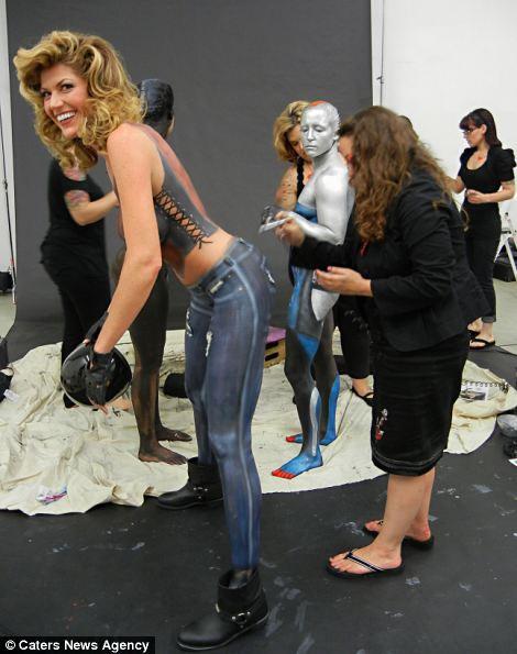 Trina Merry paints Erin Bates
