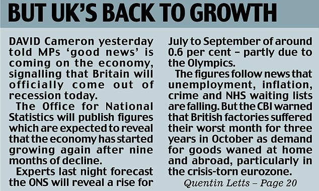 But UK's back to growth