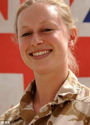 Corporal Sarah Bryant, 26, who was the first female soldier to be killed in Afghanistan