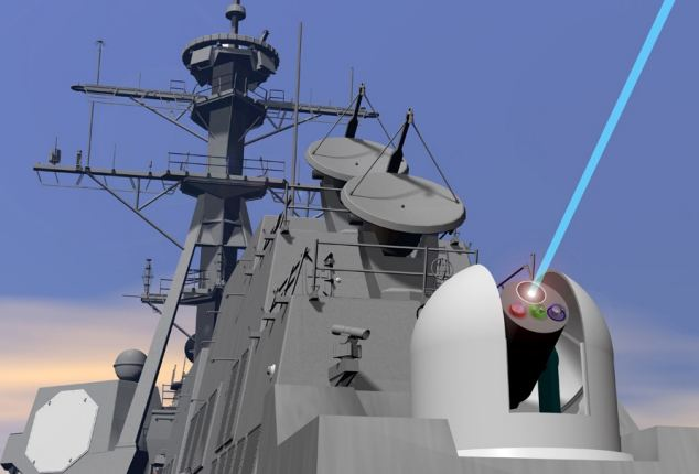 Navy ships could soon include laser weapons designed to track and fire on potential threats