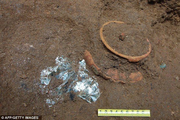 Unearthed: Pots in the grave of King K'utz Chman, a priest who is believed to have reigned around 700 B.C.