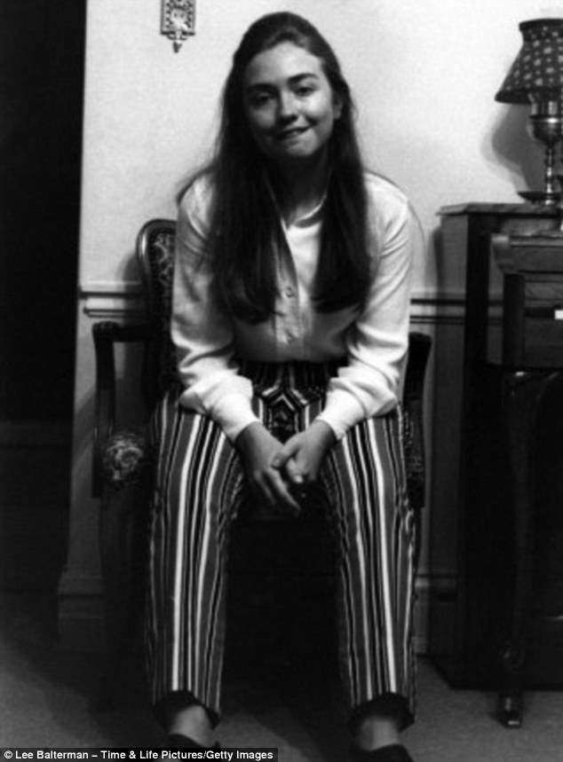 Making waves: The black and white images were taken two weeks after the recent graduate first attracted national attention for her remarks as the first student commencement speaker at Wellesley College in 1969