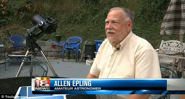 Mr. Epling was sure the object was real - but he was unsure whether it was of alien origin