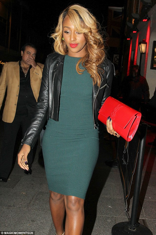 Trying to fit in? Alexandra Burke headed to TOWIE hot spot Sugar Hut in Brentwood for the evening on Friday in a form fitting dress