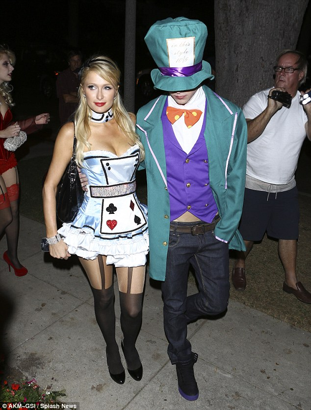 Halloween sex-pot: Paris is famous for her skimpy party costumes