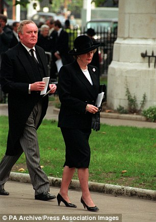 Loyal: Morrison with Baroness Thatcher in 1990