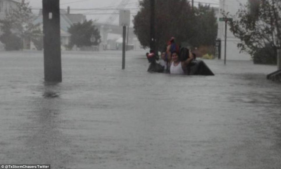 En profundidad: Una foto muestra el curso de mareas de tempestad catastrófica cerca de Ocean City, Nueva Jersey