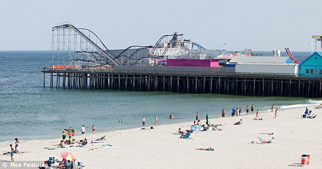 Iconic: The rollercoaster prior to Sandy, it was publicised by the MTV reality show Jersey Shore