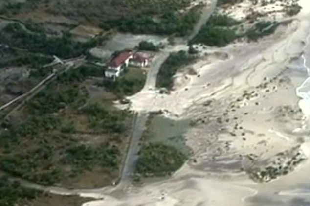 Permanent damage: The shoreline has been breached, with dunes flattened, beaches wiped out and coast eroded