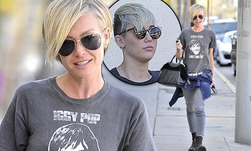 Portia De Rossi, 39, Channels Miley Cyrus, 19, With Rocker