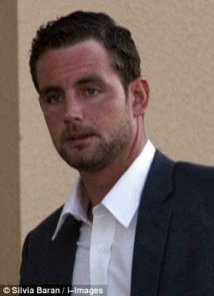 Accused: Conor McRedmond is accused of having sex in the back of a Dubai taxi with Rebecca Blake after an all-day drinking binge