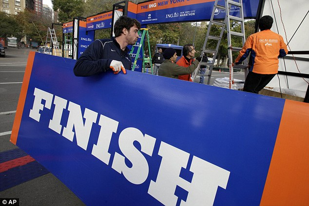 Ready for action: The New York Marathon will still go on despite the city's widespread devastation